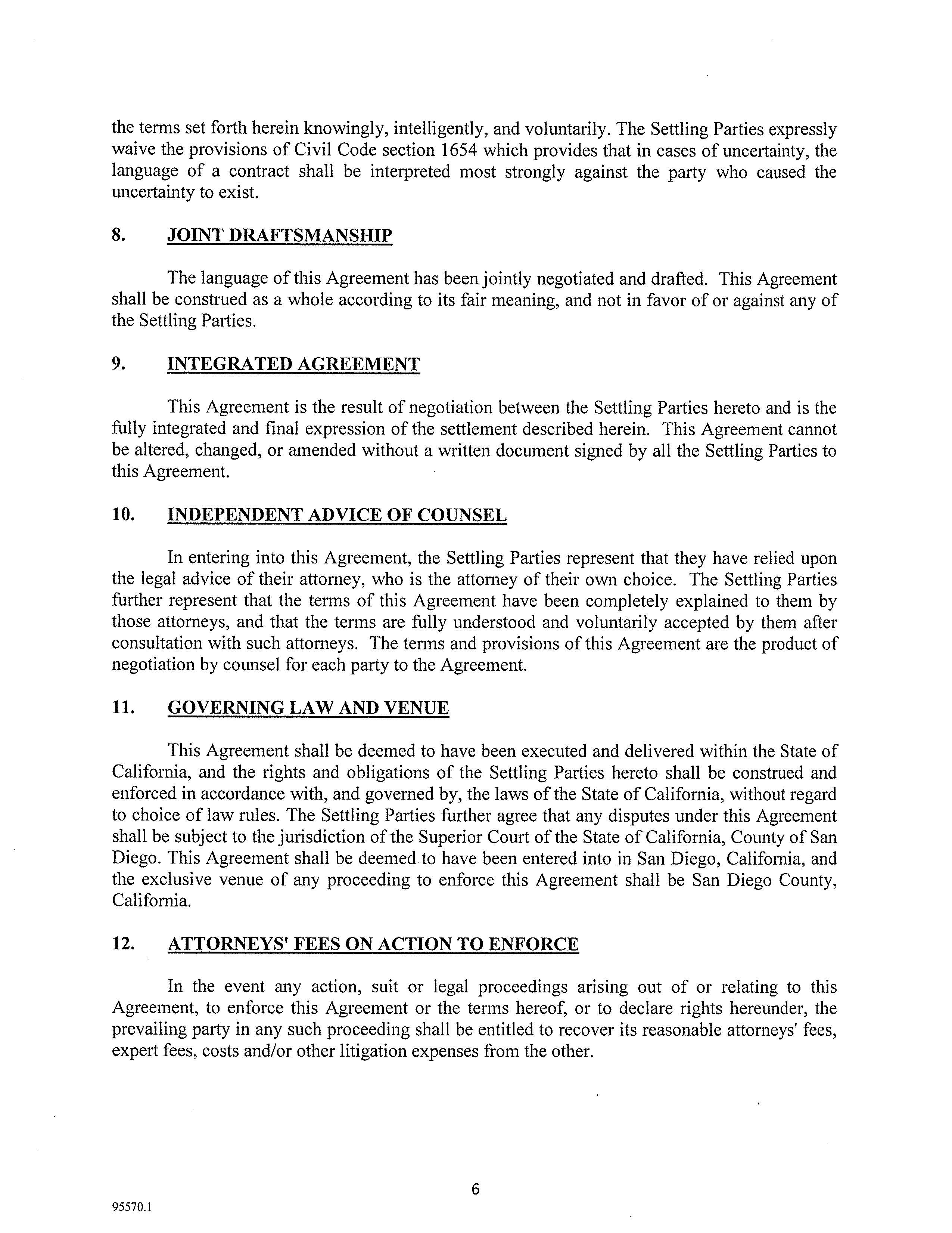 Settlement agreement with12 30 15 letterpage7 crosby estate at settlement agreement with12 30 15 letterpage7 crosby estate at rancho santa fe platinumwayz